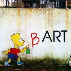 El arte no siempre se tiene q escribir sin b y esto nos lo demuestra bart