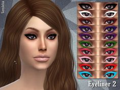 The Sims Resource: Eyeliner 2 by Sintiklia • Sims 4 Downloads
