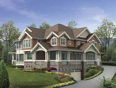 craftsman house | ... Square Feet, 4 Bedroom 4 Bathroom Craftsman Home with 4 Garage Bays