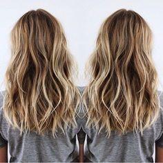 Layered Medium Hairstyles - Brown and Blonde Balayage