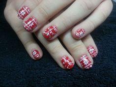 Hybrydy, christmas, nails