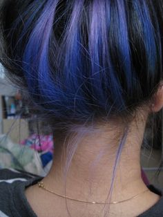 I'm really into the idea of color that can only be seen when your hair is up or in a certain braid etc.
