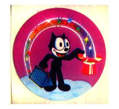 Lisa Frank Felix the Cat with Top Hat Sticker