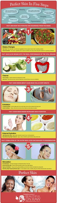 5-Step Guide to Improve Your Skin - Infographic #infographics, #infographic, #SkinCare