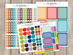 Back to Basics Planner Stickers EC Planner by SGStationery on Etsy