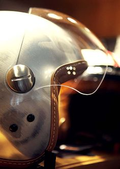 Bespoke leather finish helmet.