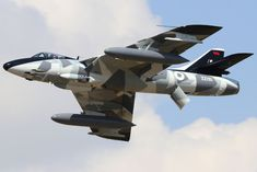 RAF Hawker-Hunter F.58 ZZ191 Military Jets, Military Aircraft, Fighter Aircraft, Fighter Jets, Freedom Fighters, Jet Plane, Royal Air Force, Aviation Art, War Machine