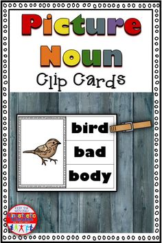 Here's a set of 160 picture noun clip cards. It includes all words from the Fry list and the Dolch list. Just print, laminate and add clothespins for a reusable literacy center! Dolch List, Kinesthetic Learning, Love Teacher, Review Games, Clothespins, Word Work, Literacy Centers, Art Activities, Task Cards