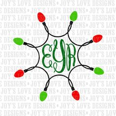 Christmas Lights SVG DXF & EPS Digital Download by JoysLoveDesigns