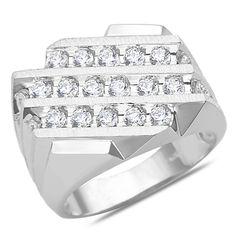 Ebay NissoniJewelry presents - Men's 1 1/2CT Diamond Fashion Ring in 14k White gold with a Cage Back    Model Number:GRV3917M-W477J    http://www.ebay.com/itm/Men-s-1-1-2CT-Diamond-Fashion-Ring-in-14k-White-gold-with-a-Cage-Back/221630495124