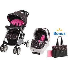 Graco - Priscilla Travel System with Bonus Priscilla Diaper Bag