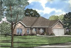 2148 sq ft 4 bedrooms, 2 bathrooms, i really do like this plan, no mud room, no screened porch tho, 20x 21 great room, not sure I want the kitchen to be blocked off, Houseplan 110-00101