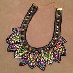 | HP | NWOT Statement Necklace Absolutely stunning! NWOT felt backing. Matches everything! #72209 Jewelry Necklaces