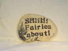 Cute stone for Fairy Gardens.