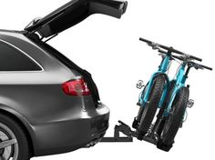 Hitch-mounted bike rack for your car or SUV so you can head to the trails or open road with your mountain bikes or road bikes for a little mountain biking or road cycling fun! This is a Thule Classic 9044 bike rack. Suv Bike Rack, Best Bike Rack, Hitch Bike Rack, Folding Mountain Bike, Mountain Bike Shoes, Mountain Biking, Road Cycling, Cycling Bikes, Cycling Equipment