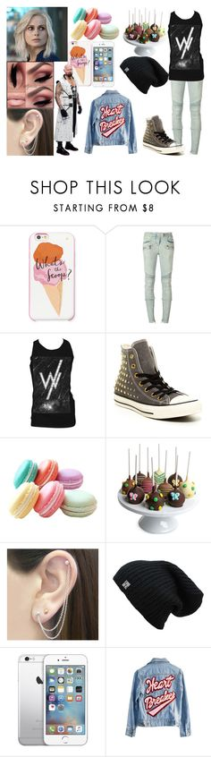 """""""Dana Hangs Out With Gallows"""" by makaylak-1 ❤ liked on Polyvore featuring Kate Spade, Balmain, Retrò, Converse, Golden Edibles, Otis Jaxon, High Heels Suicide, WWE and wweoc"""