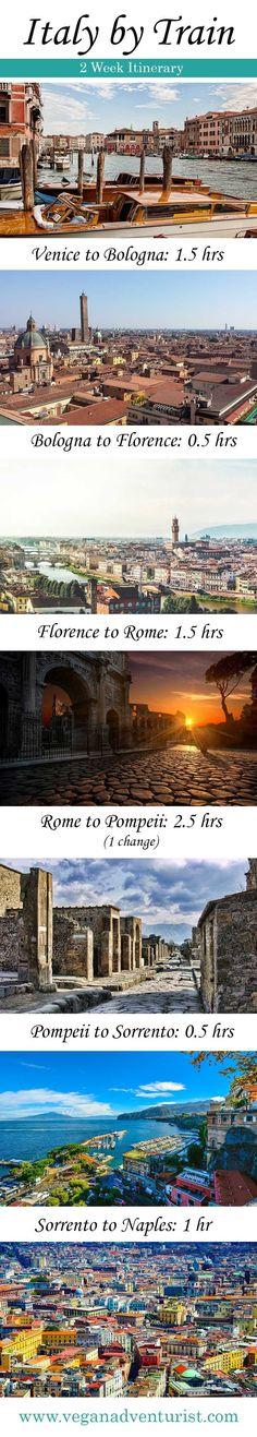 Italy by Train. Two week itinerary #italytravel