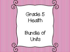 This resource is a bundle of Grade 5 Health units and includes the I Can Statements for the curriculum.It meets the outcomes and indicators for the Saskatchewan Health Curriculum.Included in this bundle are:I Can Statement Posters for Grade 5 HealthPersonal Eating PracticesChanges in PubertyInfectious and Non-Infectious Illness/DiseasesViolence and AbusePersonal Identity and Personal Well-BeingUnderstanding Peer PressureSolutions and Action PlanningSelf-Regulation and Responsibilities Please…