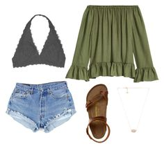 American crazy by cea4 on Polyvore featuring Youmita, Birkenstock and Kendra Scott