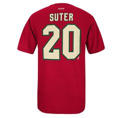 Men's Reebok Minnesota Wild Ryan Suter Premier Tee, Size: Medium, Red