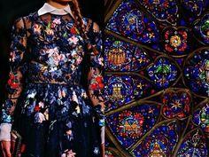 Liliya Hudyakova, Jeune Artiste Russe née en Sibérie (21 ans en 2015) se Définit elle même comme une Créatrice de Beauté. Elle Imagine des Collages en Jouant des Couleurs de la Mode Comparées à Celles de la Nature, de l'Art, de l'Architecture ou autres Objets.