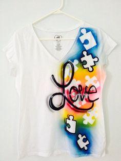 Autism Awareness Tee shirt  Puzzle piece by SundayBestClothingCo, $22.00