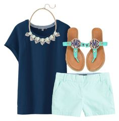 """""""I've got the summer time Blues //Cara"""" by preppy-southern-belles ❤ liked on Polyvore"""