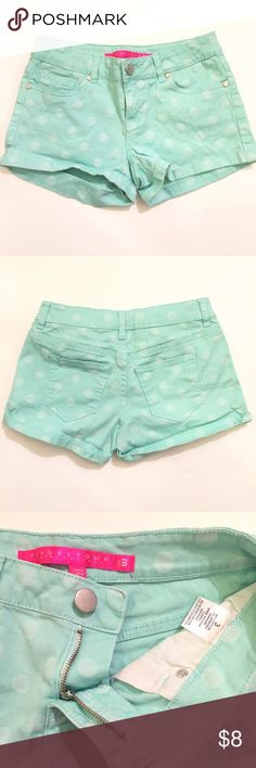 TINSELTOWN Polka Dot Shorts GREAT CONDITION: Low to mid-rise. Tinseltown Shorts