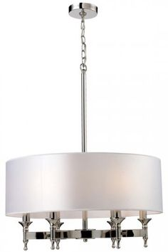 Penbrooke 6-Light Single Shade Chandelier - Chandelier - Lighting | HomeDecorators.com