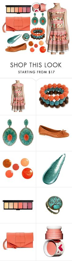 """Garden Party"" by quript on Polyvore featuring Gabby Skye, Erica Lyons, Silvia Furmanovich, Carvela Kurt Geiger, Giorgio Armani, Botkier and Clarins"