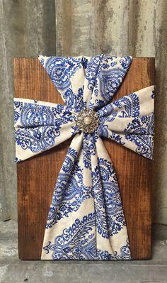 Fabric Wood Cross, Home Decor by DistinctlyBlackman on Etsy https://www.etsy.com/listing/255612045/fabric-wood-cross-home-decor