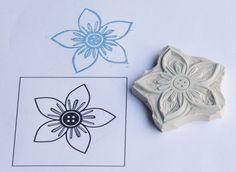 finished flower stamp