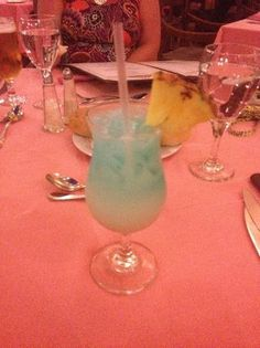 Majestic Elegance Punta Cana: Ask and you shall recieve...Blue Hawaiian!