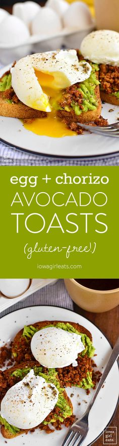 Egg and Chorizo Avocado Toasts are a healthy and filling way to start or end your day. These pumped up gluten-free avocado…