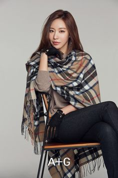 Chic and Refined Kim Ah Joong for A+G Fall Ads