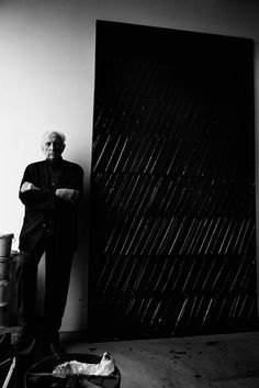 Pierre Soulages (b. 1919) in Paris, February 2014, Photography by Patrick Demarchelier.