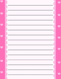 Lined letter writing paper