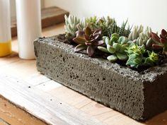 Simple betonpflanzk bel selber gie en tolle geschenkidee