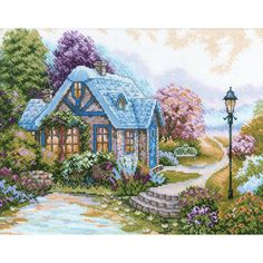 "Home Sweet Home Counted Cross Stitch Kit-13-1/2""X10-5/8"" 14 Count"