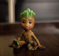 Cute Baby Groot 3D printed hand painted