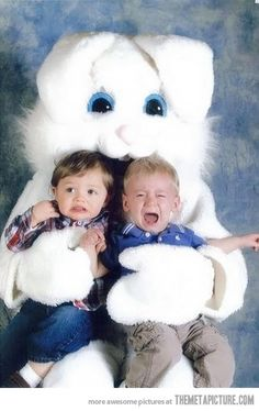 During college I was the local mall's Easter Bunny, well one of them...ahhh worst job ever...at least until I became a nurse