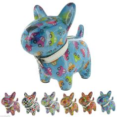 Pomme - Pidou Dog Money Box Bright Funky and Collectable Ceramic Money Bank | eBay