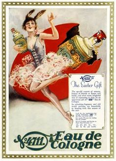 Easter Gift, Eau De Cologne c. 1928  British ad