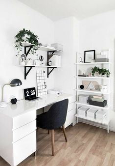 Study Room Decor, Room Ideas Bedroom, Office In Bedroom Ideas, Ikea Room Ideas, Bedroom Inspo, Bedroom Inspiration, Room Design Bedroom, Cool Bedroom Ideas, Diy Bedroom