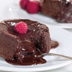 Chocolate molten Lava cake. Cakey on the outside, ooey gooey on the inside. Fun to make, yummy to eat.