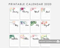 Calendar For Wall Calendar 2018 2019 Calendar For Desk Gift Card Template, Printable Gift Cards, Gift Certificate Template, Monthly Planner Printable, Printable Calendar Template, Bujo Planner, Kids Calendar, 2021 Calendar, Calendar Ideas