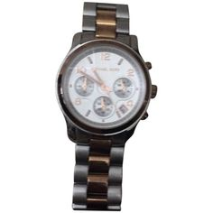 Pre-owned Runway Watch ($113) ❤ liked on Polyvore featuring jewelry, watches, accessories, michael kors jewelry, michael kors watches, preowned watches, preowned jewelry and michael kors