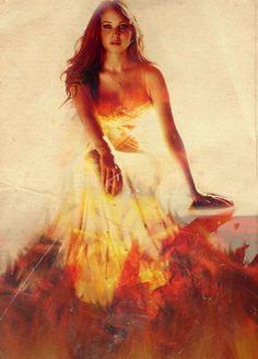 Girl On Fire -Katniss Everdeen.