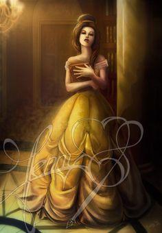 Belle Disney Princess Beauty & the Beast Costume Gown Dress… Disney Belle, Walt Disney, Disney Pixar, Disney Princess Art, Disney Fan Art, Disney Dream, Disney And Dreamworks, Disney Animation, Disney Love
