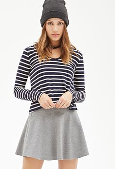 Striped Knit Hoodie | FOREVER21 - 2000057086